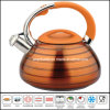 Color Painted Stainless Steel Whistling Kettle Kitchenware