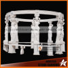 Eight Statues White Marble Carving Gazebo Ns026