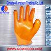 Orange Latex Coated Safety Work Gloves / Hand Gloves (Gw-Gj005