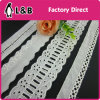 Embroidery Technical 100% Cotton White Lace Trimming