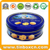 Custom Round Tin Can Metal Food Packaging Box Candy Chocolate Cookie Biscuit Tins