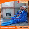 Inflatable PVC Tarpaulin Flume Slide with Water Pool (T11-088)
