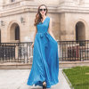 Ladies Long Sleeveless Dress V Neck