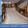 Customized Luxury Hotel Lobby Hollow-out Golden 304# Steel Stairs Balustrade