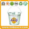 Tin Beer Pail and Galvanized Metal Ice Bucket