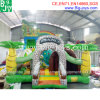 Outdoor Inflatable Bouncer Slide with Climbing Wall, Giant Inflatable Trampoline