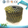 Zinc Yellow Smooth Coil Nails for Packing and Construction