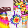 Colorful Double Satin Ribbon for Gift Package/ Decoration