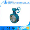 Flange End Manual Rubber Seal Butterfly Valve