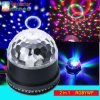 LED 6 Color Changes Sound Actived Crystal Magic Ball Sunflower Colorful Light Stage Party Light