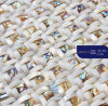 Jewelry White Square Natural Shell Mosaic Building Material
