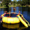 Customized Inflatable Floating Water Trampoline with Slide for Water Park