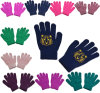 BSCI Plain Knitted Acrylic Kids Magic Gloves Winter Warmer Gloves