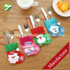 Christmas Dinner Tableware Cutlery Bag Cover Knife Spoon Fork Bag
