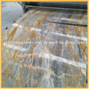 Polished Natural Italy Golden/Blue Stone Marble Slab for Countertop