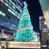 2019 New Outside Modern Pine Tinsel Metal Spiral Artificial Ball Giant Outdoor Commercial LED Lighted Christmas Tree Stands Wholesale Imported From China
