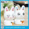 Shame Couple Rabbit Wind Chimes Garden Ornament