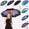 Double Layer Inverted Umbrella Cars Reversible Umbrella