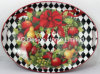 2 Size Oval Season Custom Design Paper Decal Metal Serving Tray W/Handle