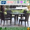 Rattan Garden Furniture Dining Table and Chairs Dining Set Outdoor Patio (TG-368)