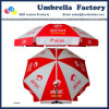 Foldable Beach Parasol Red White for Market 200cm