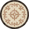 Round Waterjet Medallion Marble Marble Mosaic Medallion