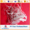 Polypropylene PP Mesh Fibrillated Fiber for Cement 25mm 38mm 50mm