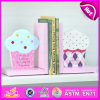 2015 Brand New Wooden Ice Cream Bookend, Hot Sale Wood Ice Cream Bookend, Lovely Bookend Ice Cream Wooden W08d053