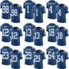 Cheap Mens Womens Kids Toddlers Indianapolis Pat Mcafee Adam Vinatieri Andrew Luck Elite Royal Blue Rush American Football Jerseys Custom Any Name Any Numbers