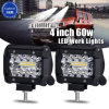 High Power Auto Car 4inch 60W 4X4 LED Light Bar for Offroad Town Car ATV Boat SUV