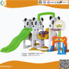 Indoor Plastic Panda Swing and Slide for Children