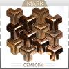 China Copper Metal Supplier 3D Irregular Mosaic Tile
