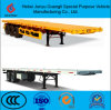 40FT Flatbed/Flat Top/Platform Semi Truck Trailer with Air Suspension and Single Tire Truck Chassis