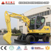 Earth Digging Machine, Mini Wheel Excavator 6t