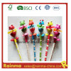 Wood Craft Hb Pencil with Animal Fan Top