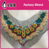 Garment Accessory Hand Made Wood Beaded Pallet Collar for Women Dress