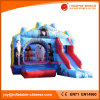 Inflatable Jumping Moonwalk Bouncer with Slide (T3-038)