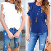 2017 Womens Summer Short Sleeve Casual Chiffon Shirt Tops Blouse