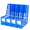 Large Capacity 4 Columns Desktop Plastic File Box