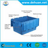 Plastic Stackable Crate Box for Veggetables and Fruits with Lid