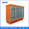 Supermarket Plug in Vertical Glass Door Freezer