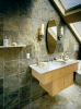Multicolor Green Slate Bathroom Wall Tiles