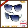 F7479 Cat3 UV400 Lady Retro Square Occhiali CE Sunglasses