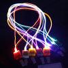 Round Optical LED Lanyard Glowing Neck Strap LED Luminous Lanyard