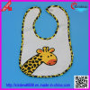 Baby′s Embrodered Bib with Animal Pattern