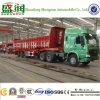 Three Axle Hydraulic Cylinder Dump Truck Trailer