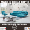 Miami Contemporary Fashionable Blue Genuine Leather Sofa