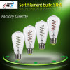 Soft filament LED bulb ST64 with green/red/yellow/lemon color lamp bulb option