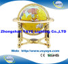 Yaye 18 Hot Sell Yellow Color 330mm/220mm/150mm Gemstone Globe with Gold Metal Stand