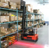 Red-Zone LED Pedestrian Warning Light on Toyota Forklift